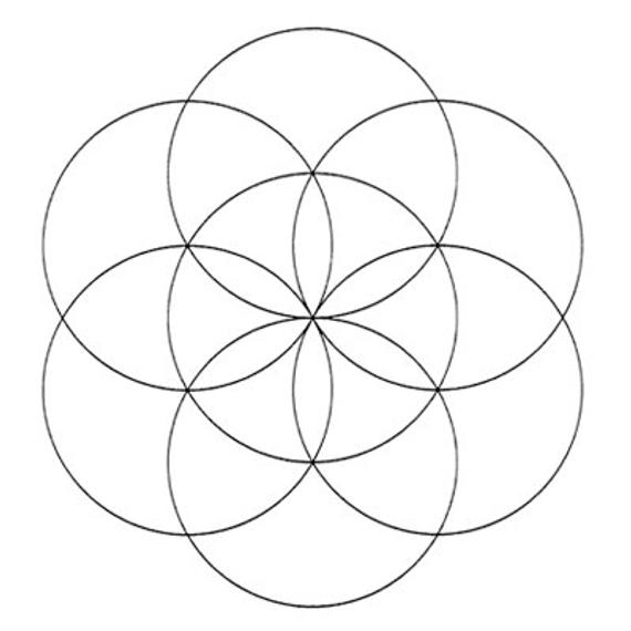 Seed Of Life Art Add On Etsy In 2021 Seed Of Life Flower Of Life Compass Drawing