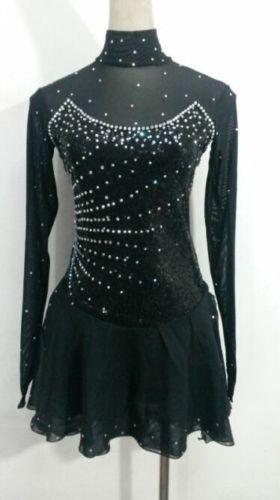 Ice Skating Dress Girls Black Figure Skating Dresses Custom Figure Skating Competition Dresses