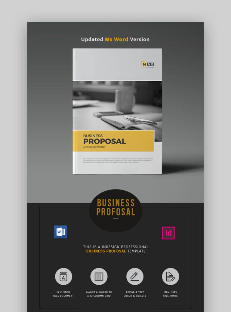 20 Ms Word Business Proposal Templates To Make Deals In 2019 In Free Business Proposal Tem Free Business Proposal Template Proposal Templates Business Proposal - ms word proposal template