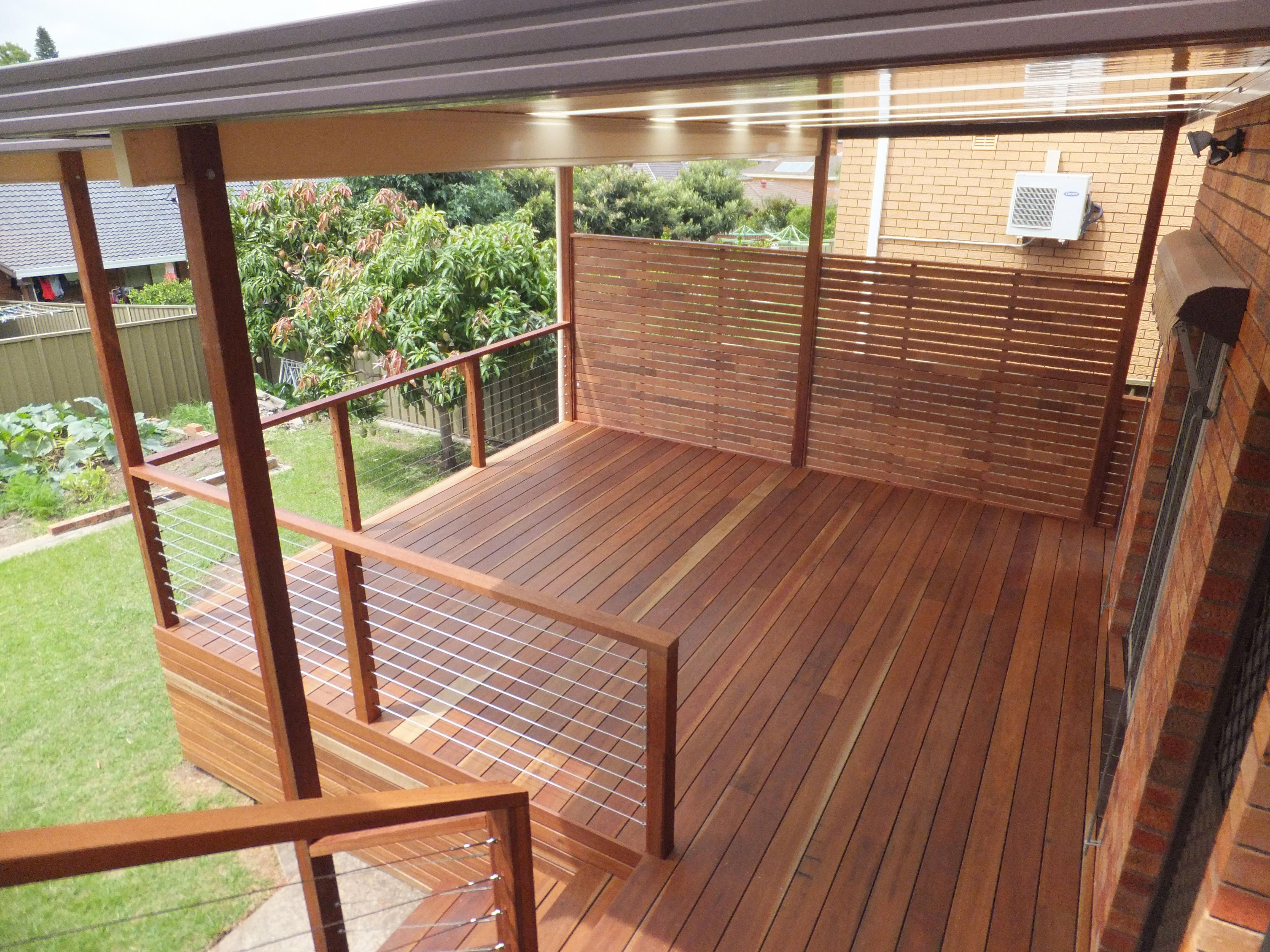 The Beauty Of A Spotted Gum Timber Deck Timber Decking Sydney At Its Best Pergolaforsmallpatio Patio Railing Privacy Screen Deck Deck Designs Backyard