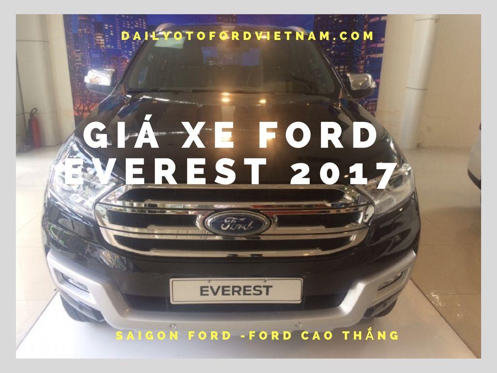 Giá xe Ford Everest 2017