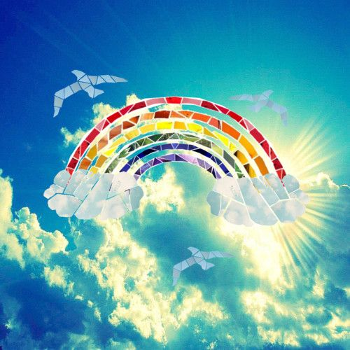 Somewhere Over The Rainbow Blue Birds Fly Blue Bird Rainbow Tattoos Over The Rainbow