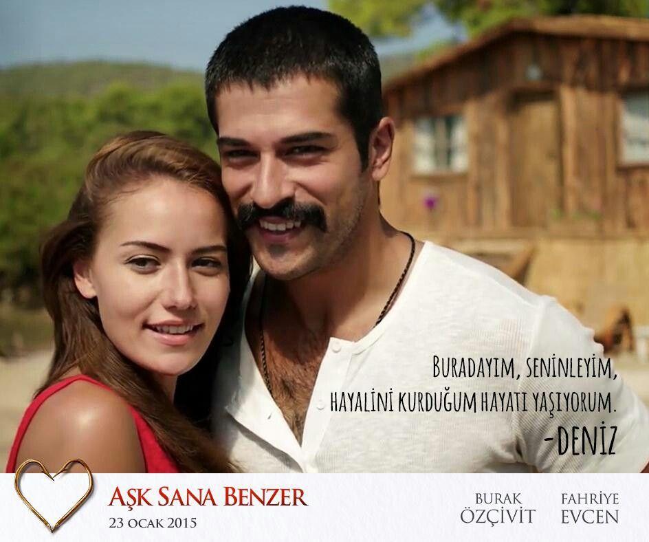 Fahriye Evcen Burak Ozcivit Ask Sana Benzer Burak Ozcivit Couples Couple Photos