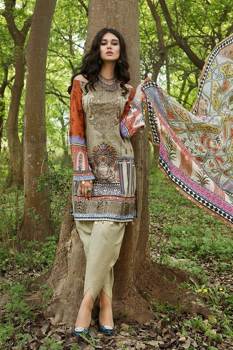 693fd390cb5 Embroidered green dress available online by Maria B lawn collection   springcollection  spring  readytowear