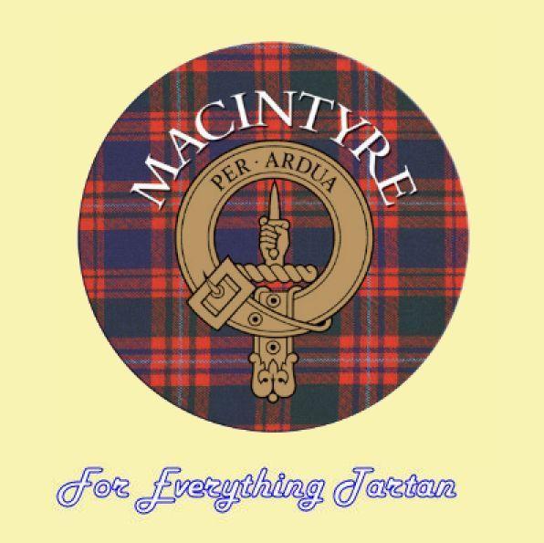 For Everything Genealogy - Clan MacIntyre Clan Crest Tartan Cork Round Coasters Set of 2, $12.00 (http://foreverythinggenealogy.mybigcommerce.com/clan-macintyre-clan-crest-tartan-cork-round-coasters-set-of-2/)