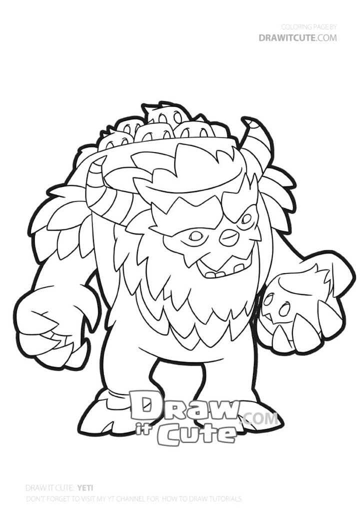 How To Draw Yeti Clash Of Clans Coloring Page By Draw It Cute Clashofclansindonesia Colo Pokemon Coloring Pages Pikachu Coloring Page Star Coloring Pages