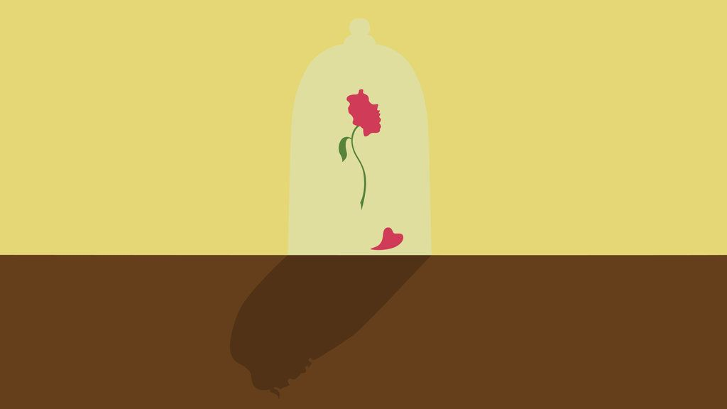 Beauty And The Beast Wallpaper By Citron Vert On Deviantart Beauty And The Beast Wallpaper Beast Wallpaper Minimalist Wallpaper