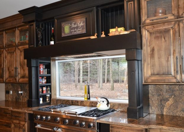 Awesome Knotty Alder Wood Cabinets