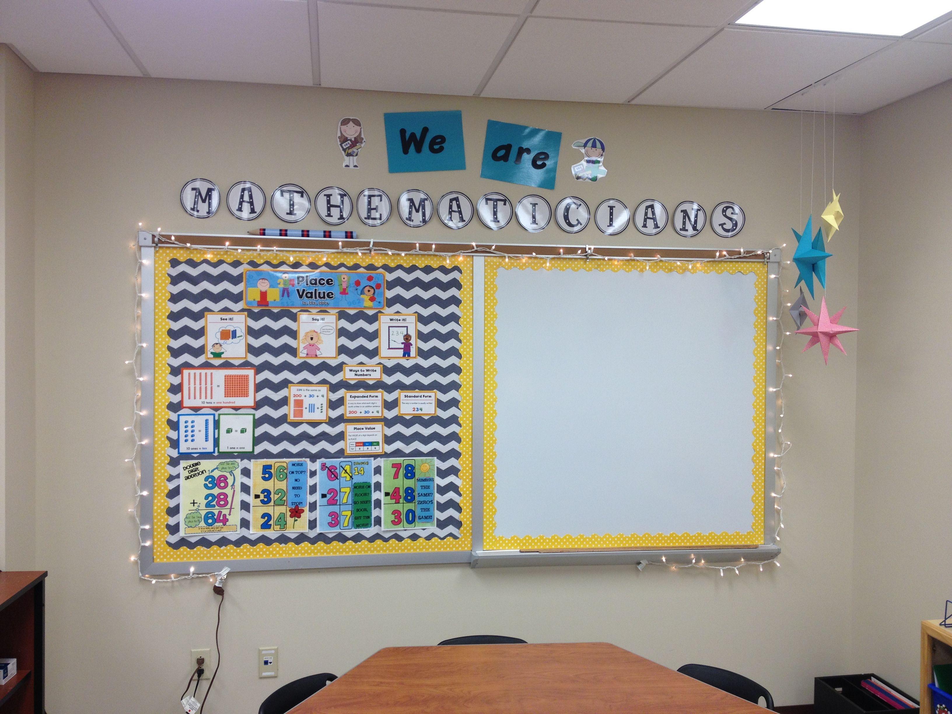 Math wall My Classroom Pinterest