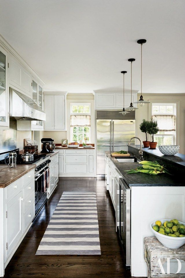 Lovely White Kitchen Cabinets with Dark Countertops