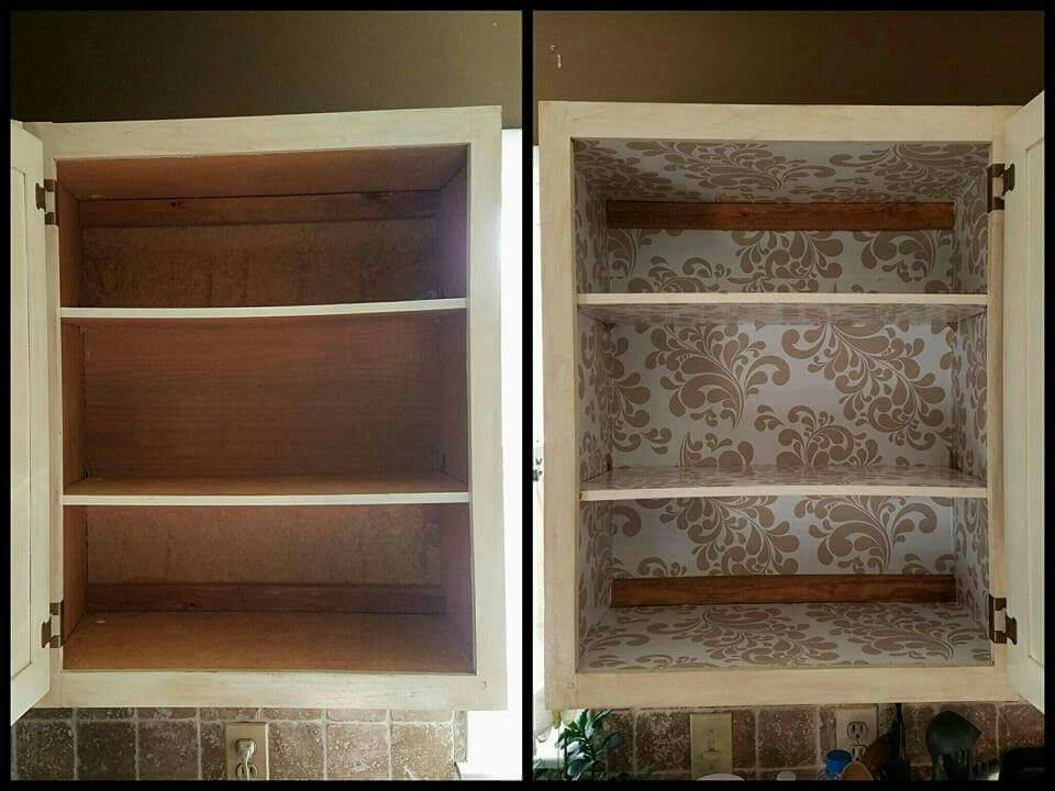 Inside Kitchen Cabinets Covered With, Contact Paper For Inside Kitchen Cabinets