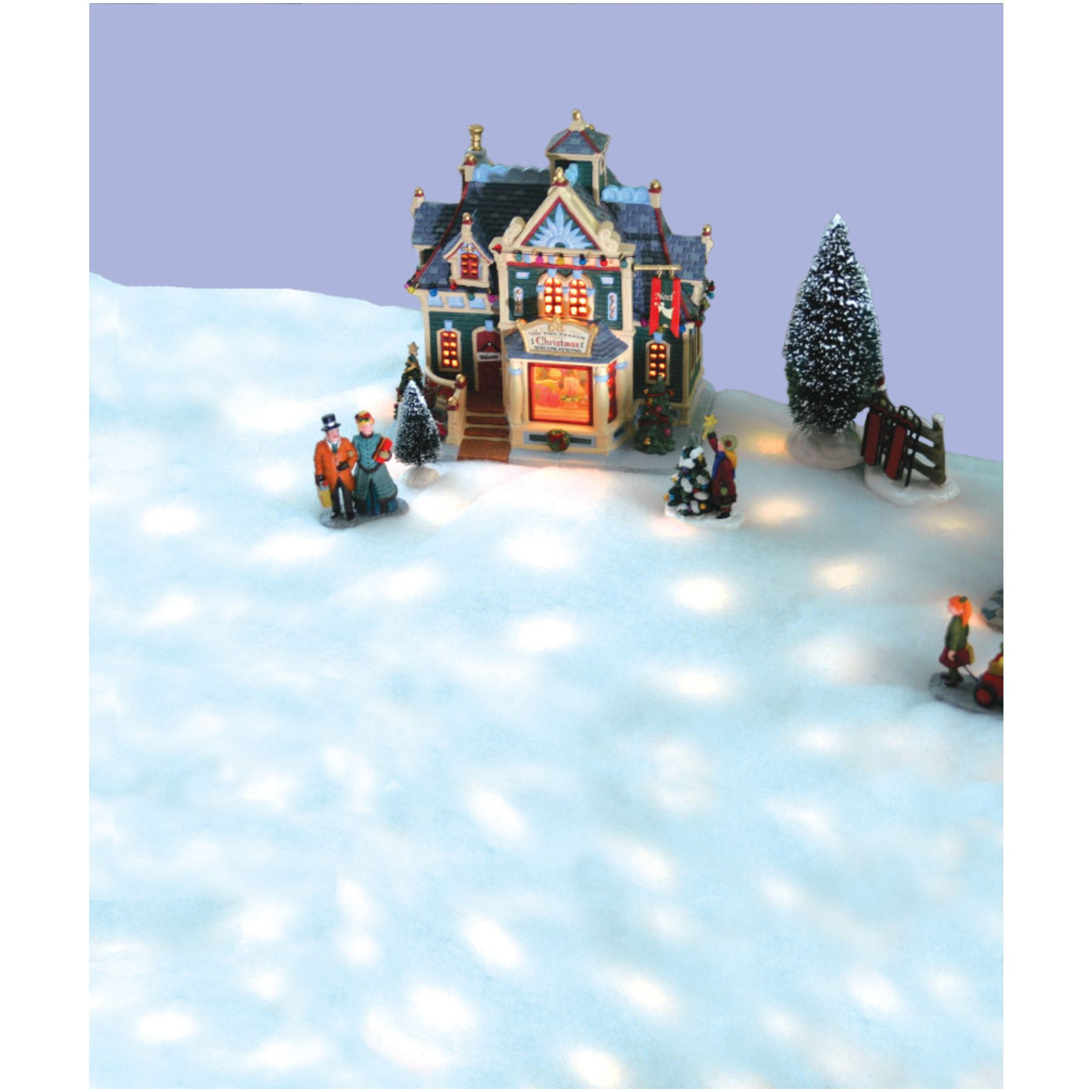 Led Lighted Battery Operated Snow Blanket For Christmas Village