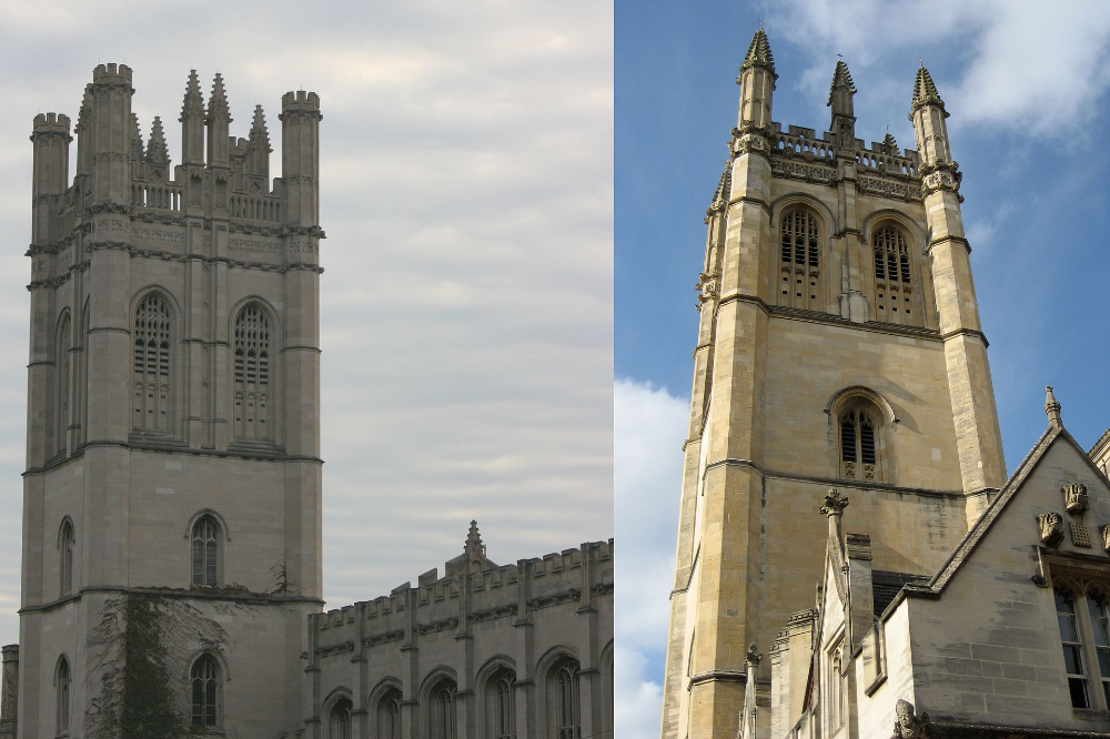 MitchellMagdalen comparison Collegiate Gothic