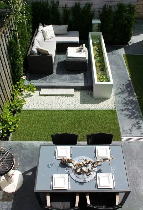 20 Small Backyard Garden For Look Spacious Ideas Homemydesign In 2020 Modern Garden Landscaping Modern Backyard Design Small Backyard Gardens