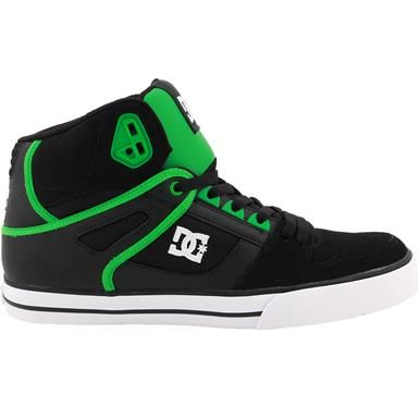 c4066eee4c45 DC Shoes Spartan HI WC Skate Shoes - Mens Black Black Green