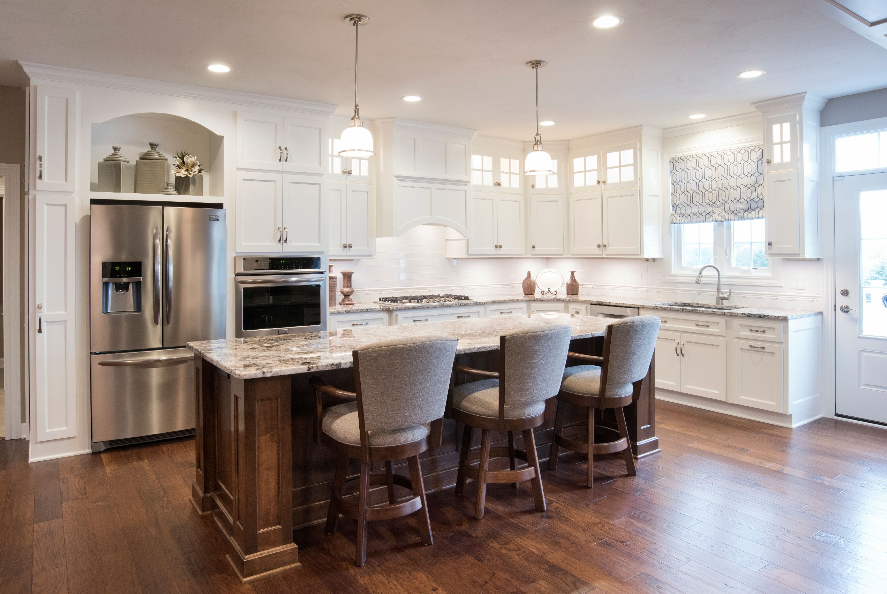 Bright and open modern traditional kitchen designed by Angela Miller ...