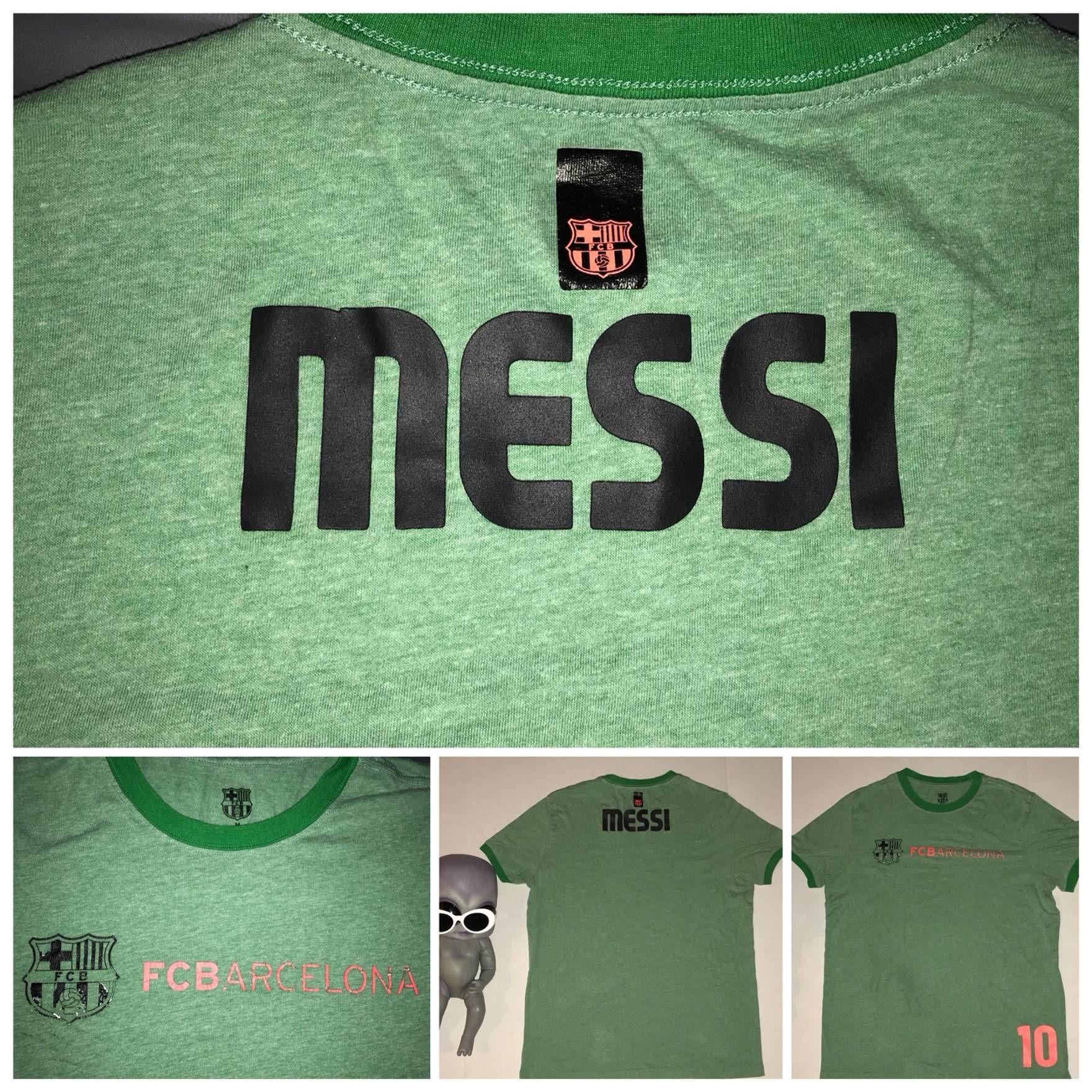 super cute 07df1 09652 Lionel MESSI FC BARCELONA Alternate Soccer Jersey Green ...