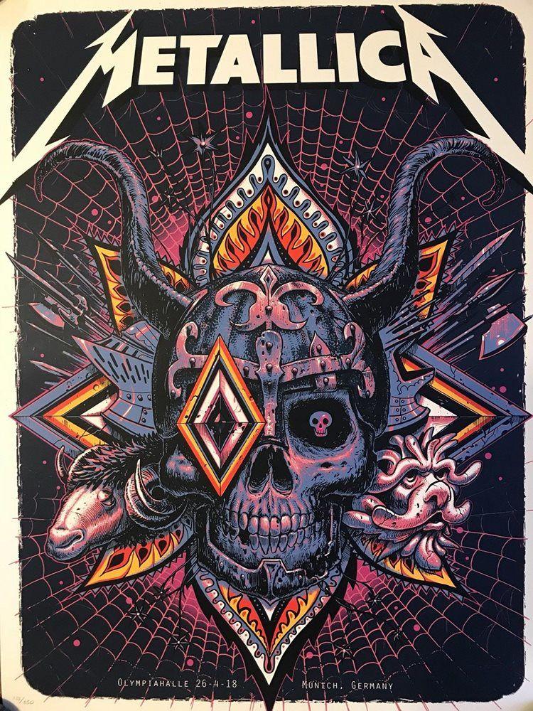 Metallica concert poster rare limited edition munich 2018 ...