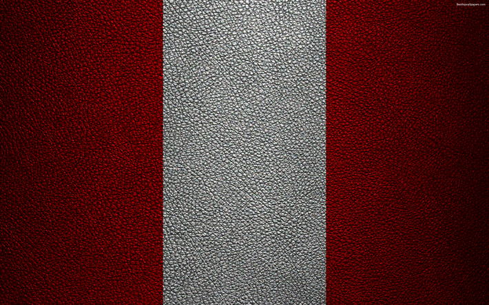 Descargar Fondos De Pantalla Bandera De Peru 4k Textura De Cuero Bandera Peruana America Del Sur Peru