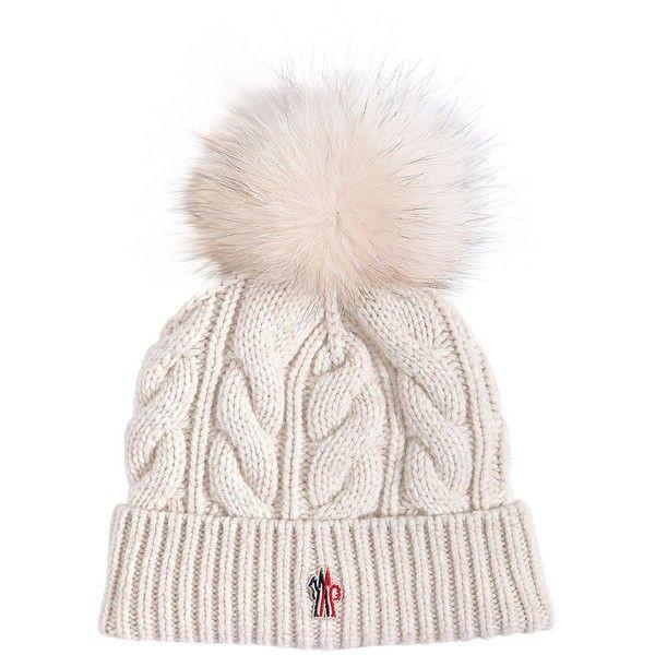 6118f39e Moncler Grenoble Women Wool & Cashmere Knit Hat W/ Fur Pompom ($310 ...