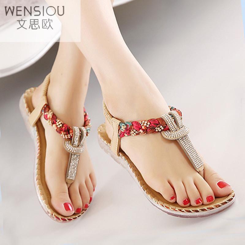 c07ba3ebce75b Bohemian sandals  bohemian  sandals  shoes  red  flipflops