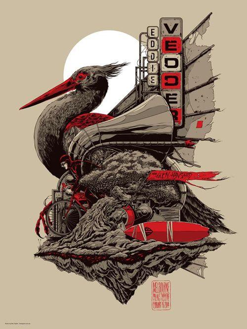Ken Taylor's Eddie Vedder poster