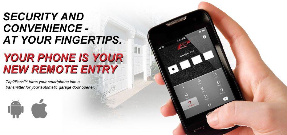 Open Your Garage Door With Your Smartphone Or Headlight Highbeam