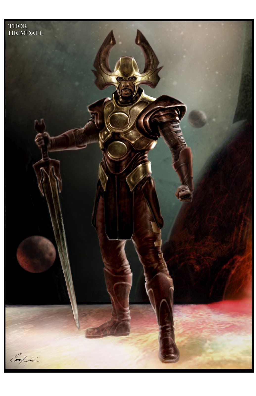 Mighty Heimdall | Afro Artworks | Pinterest | Sci fi ...