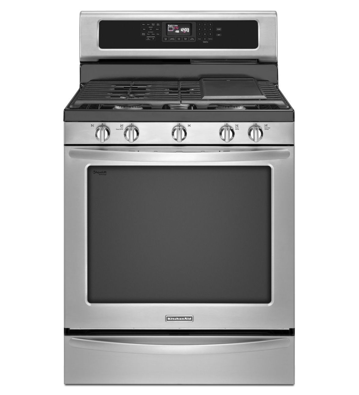 Ordinaire KitchenAid® 30 Inch 5 Burner Gas With Griddle Freestanding Range, Architect®