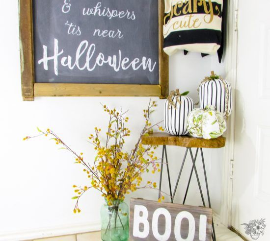 Creating A Classy Halloween Entry Decor, Classy and Journals - classy halloween decor