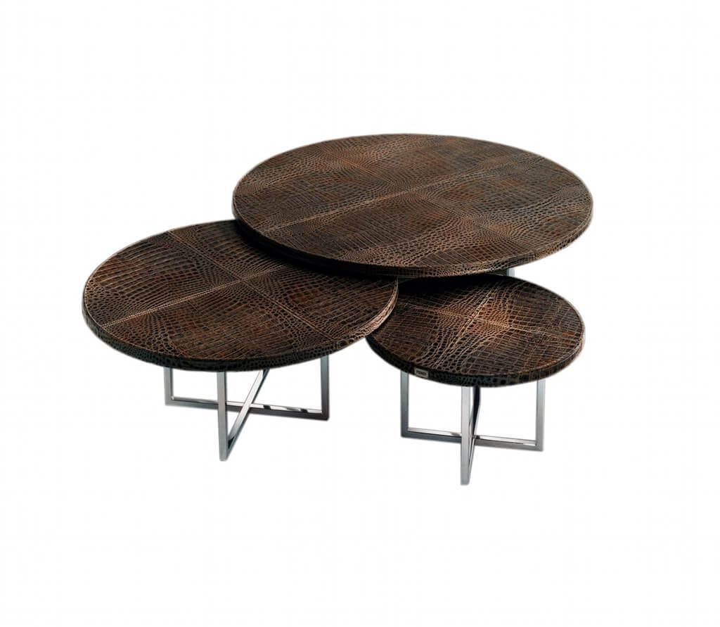Awesome Round Coffee Table with Stools