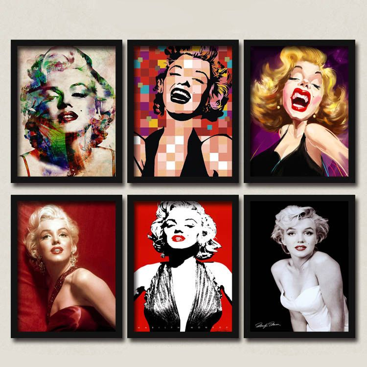 50 Shades Of Marilyn Monroe Montage Canvas Posters DIY Retro Wall Decor For  Coffee Club Cafe Cajun Kitchen Restaurant Food Kiosk Bakery Bistro Pitshop  ...