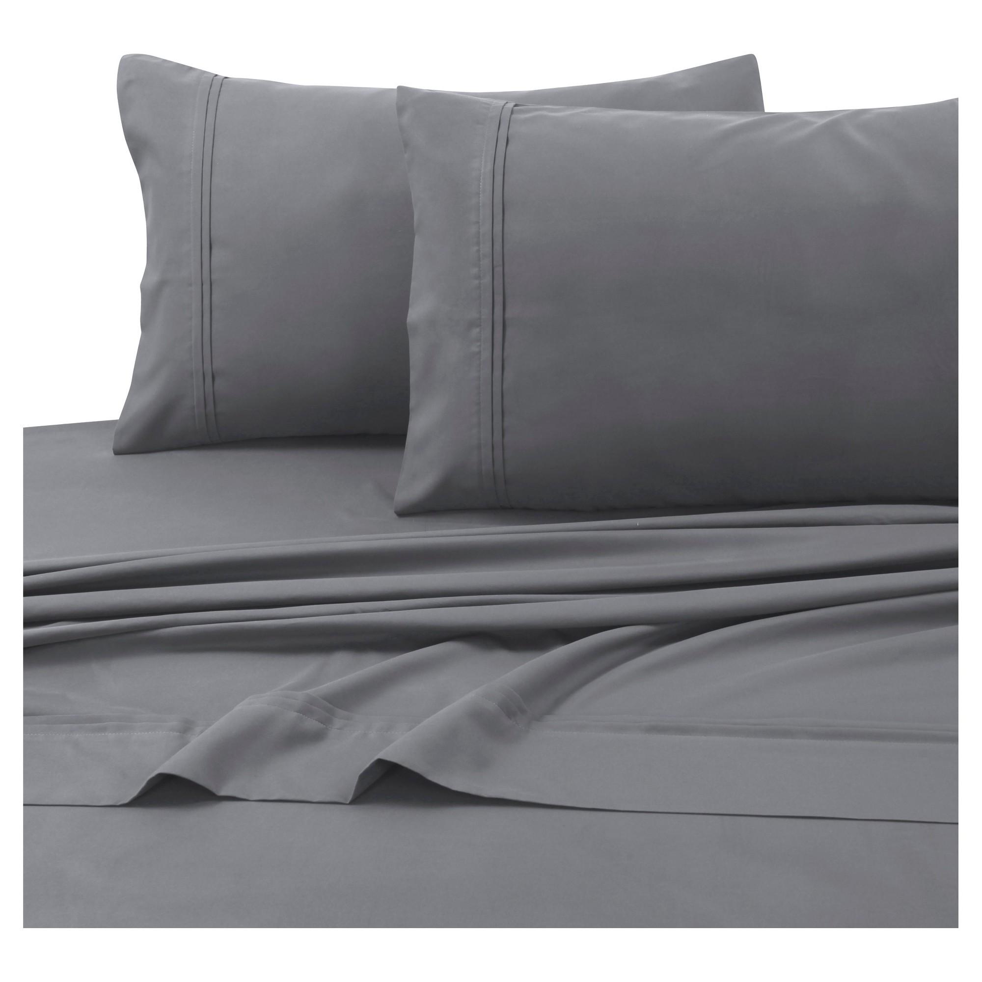 Microfiber Solid Deep Pocket Sheet Set King Gray 110 Gsm Tribeca Living Tribeca Living King Sheet Sets Designer Bed Sheets California king deep pocket sheets