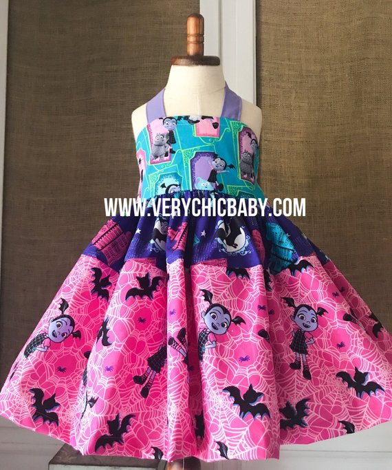 b04d682c3 Vampirina Dress, Girls Vampirina Dress, Vampirina Birthday Dress, Vampirina  Birthday Outfit, Vampiri