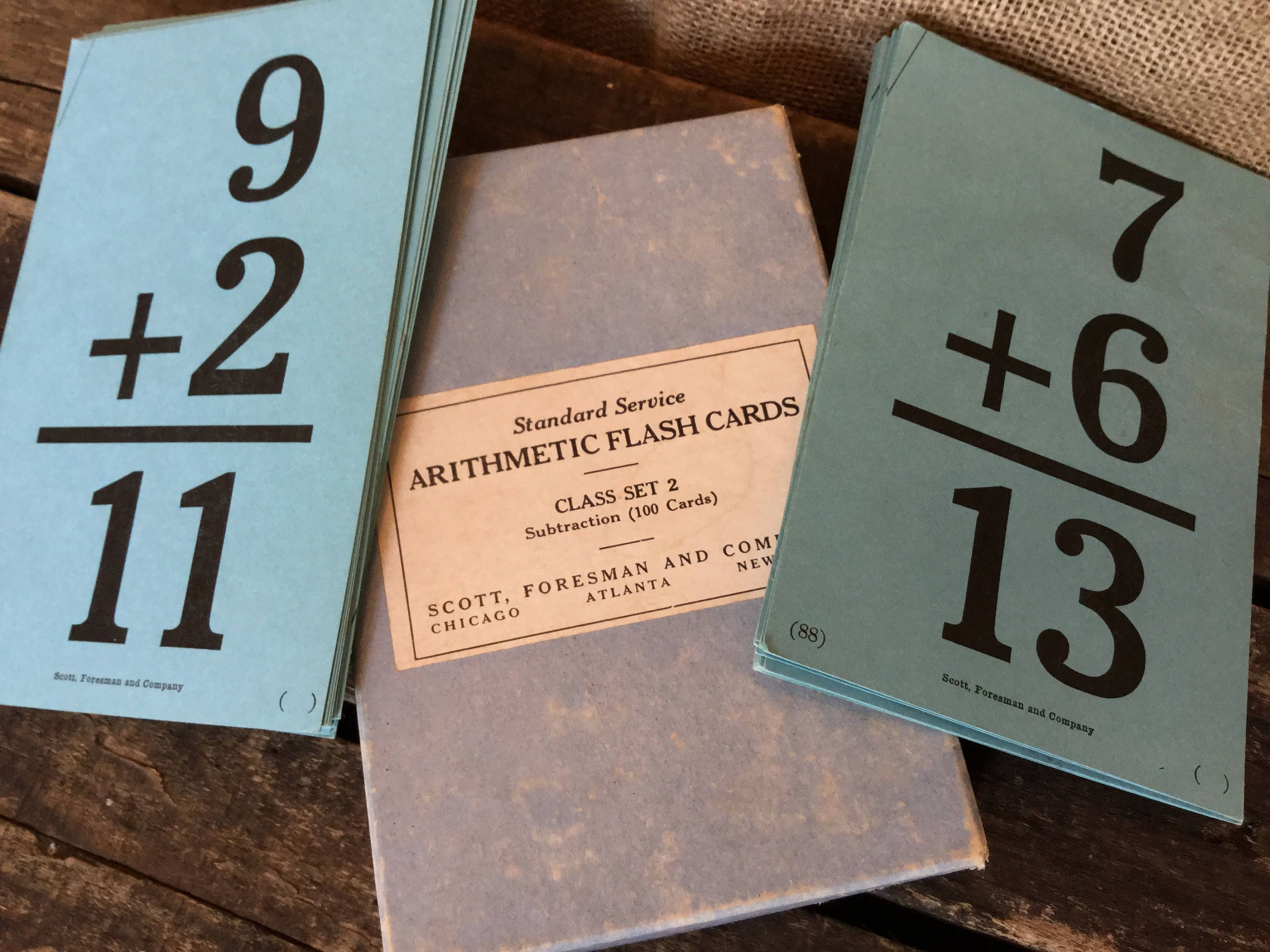 Vintage Flash Cards Scott Foresman And Company Flash