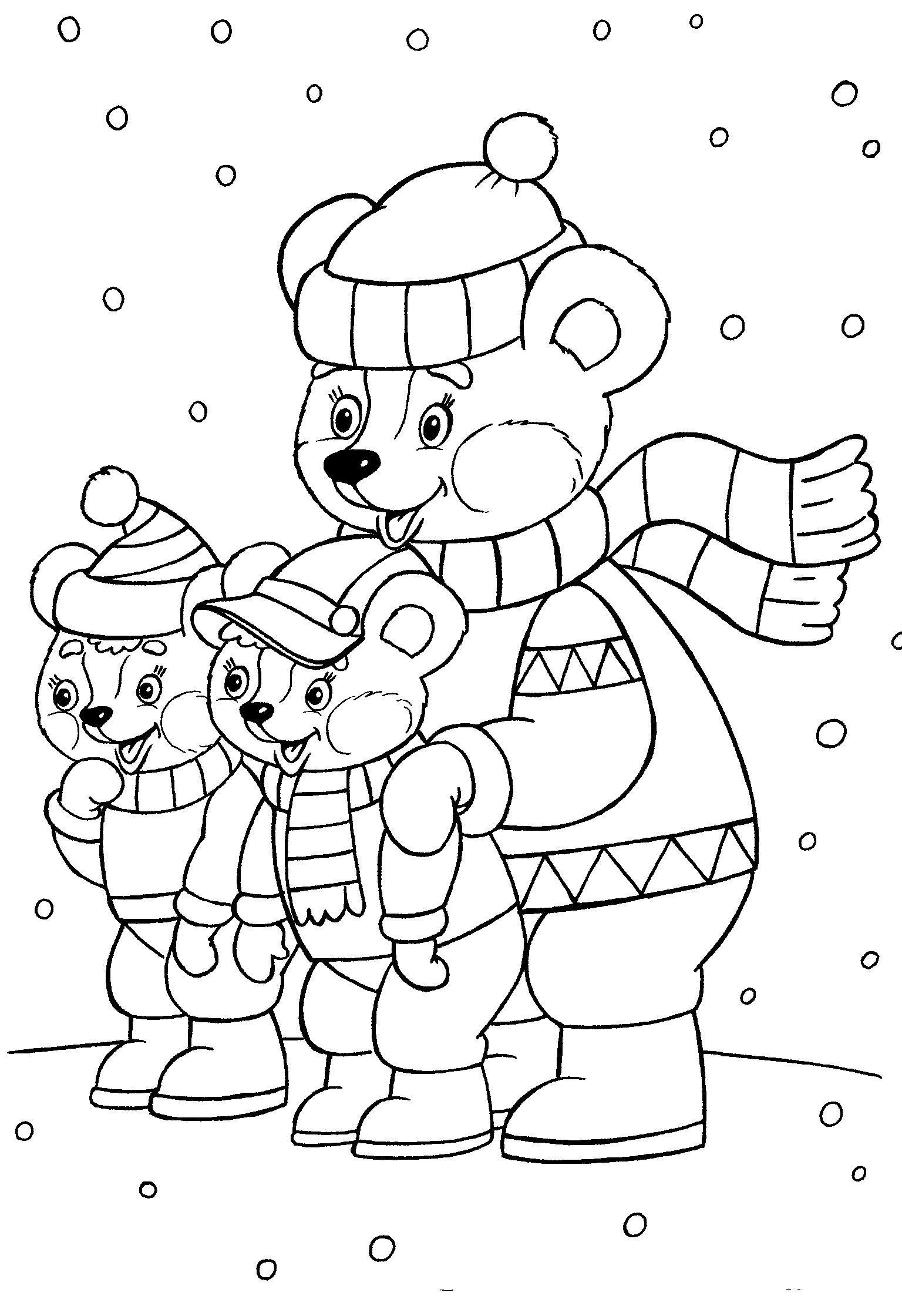 Раскраски для детей - Дед мороз и новый год. | Бесплатные ...