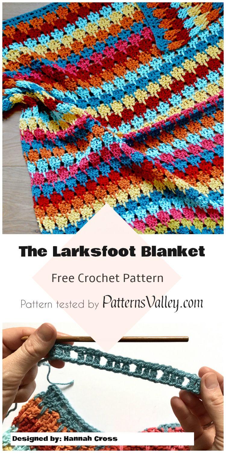 The Larksfoot Blanket Free Crochet Pattern Freecrochetpatterns