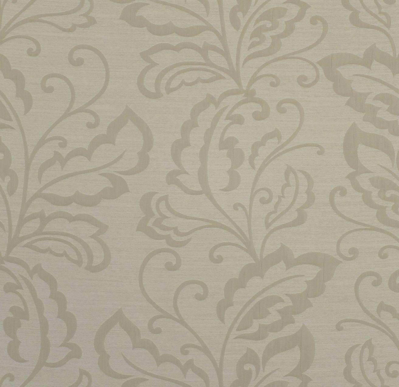 White leaf drapery fabric - Sandford Vista by Charles Parsons Interiors #white #neutral #vine #leaf #fabric #drapery #curtain #charlesparsonsinteriors