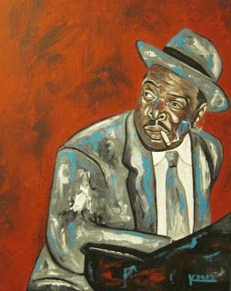 Original Acrylic Jazz Art Paintings by Ken Joslin:  Count   Basie