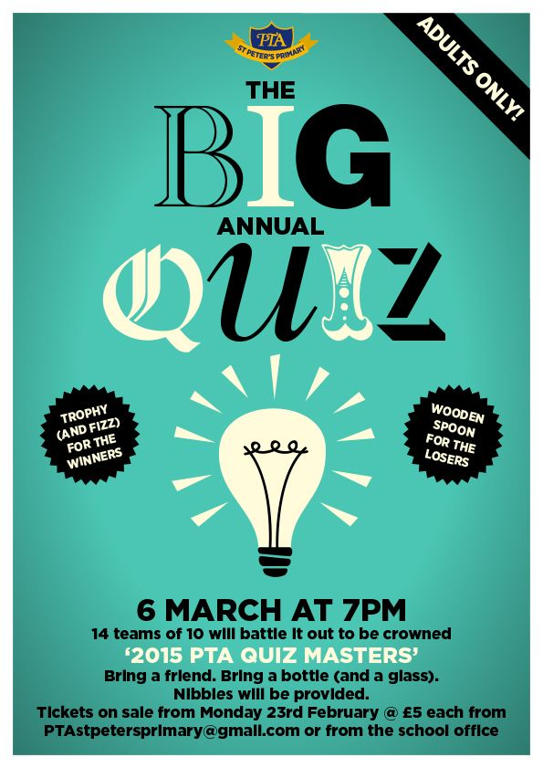 quiz-night-poster.jpg (595×841) | Queen Vic Quiz Night | Pinterest ...