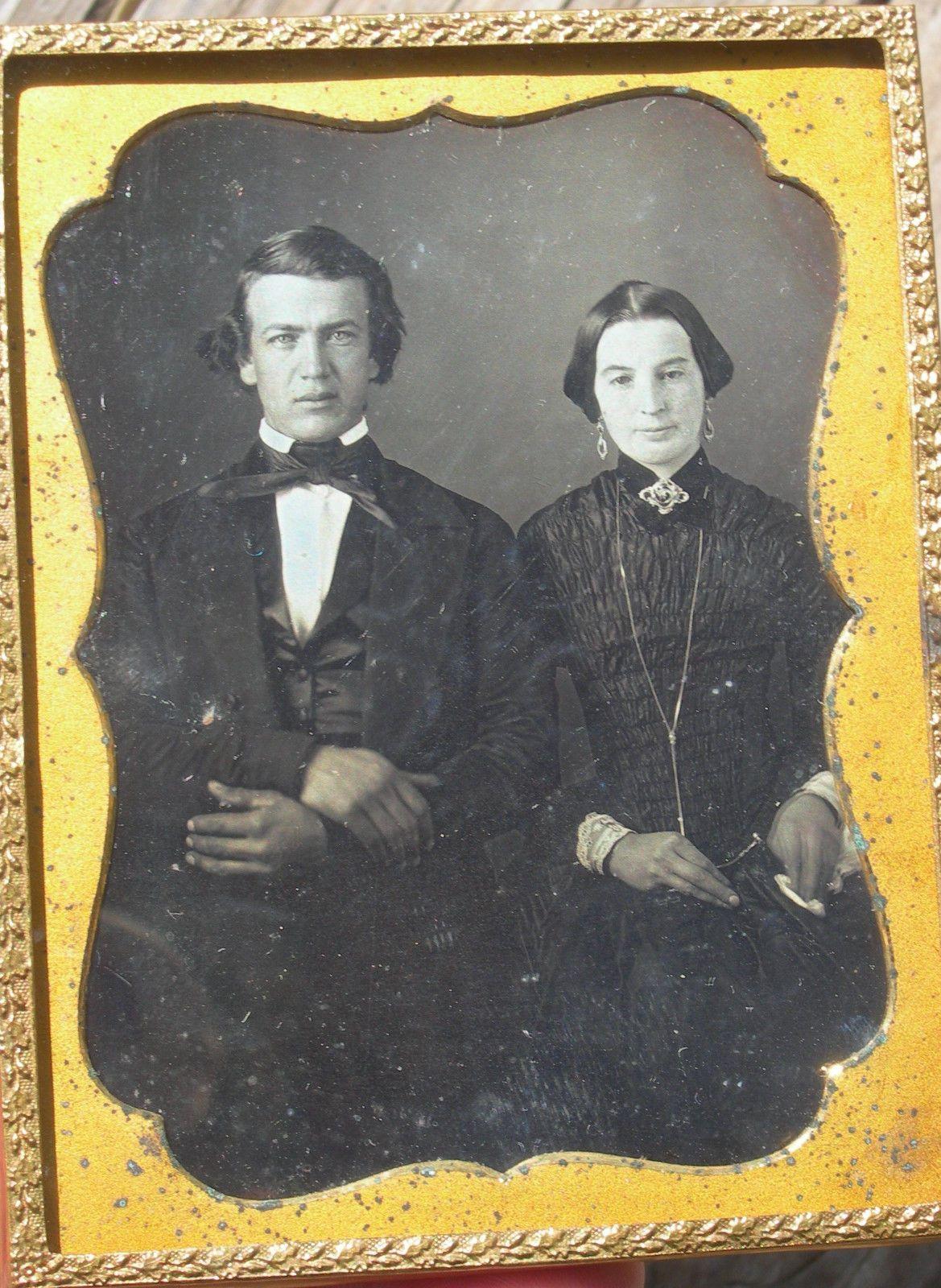 Quarter Plate Daguerreotype Young Couple   eBay