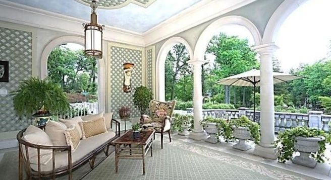 """The 24,000-square-foot home, which was featured on a 1978 episode of """"Livestyles Of The Rich and Famous,"""" sits on five acres with an elevator, four kitchens, and two staff apartments."""
