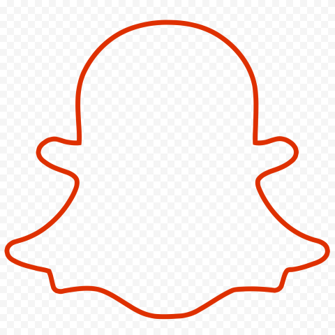Hd Red Snapchat Outline Ghost Logo Icon Symbol Png Image Ghost Logo Logo Icons Png Images