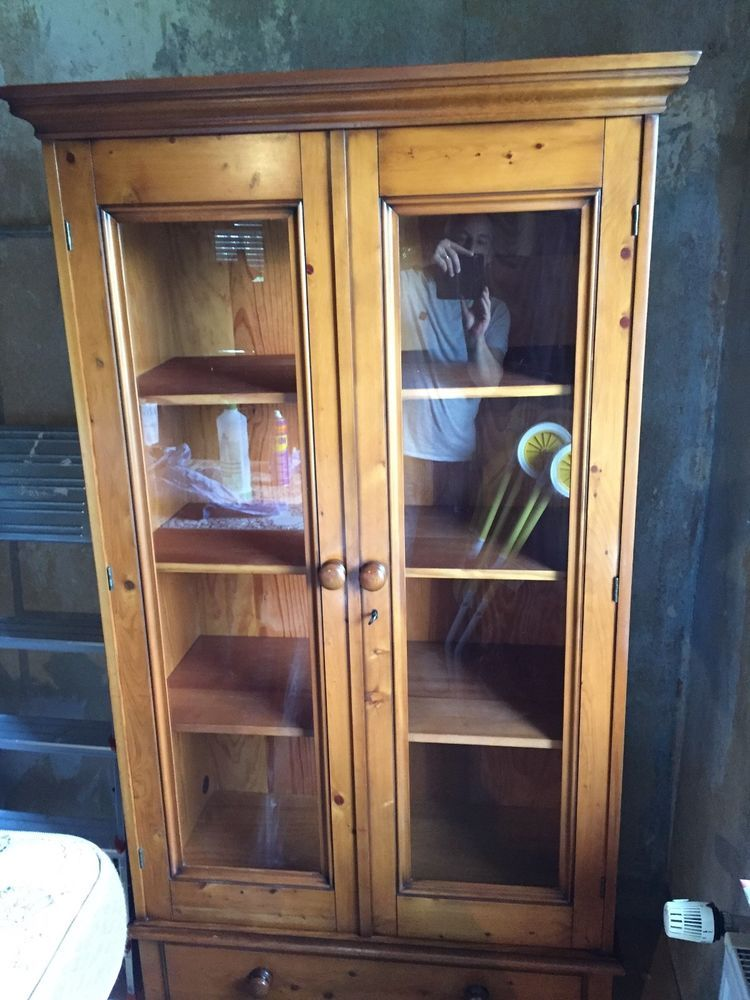 Wunderschoner Bucherschrank Vitrine Grange Kirschbaum Antiquitaten Kunst Mobiliar Interieur Schranke Ebay Armoire Furniture China Cabinet