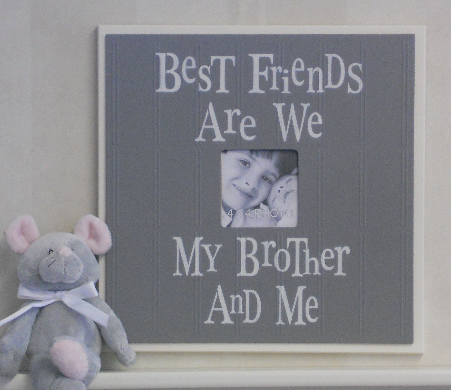brothers picture frame in gray gift for baby by nelsonsgifts 3995