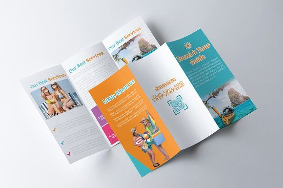 tour travel guide trifold brochure by psd templates on