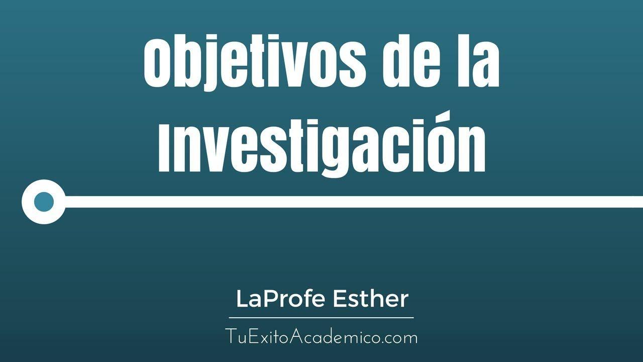 Como Formular Los Objetivos De La Investigacion 2017 Investigacion Formulas Objetivo