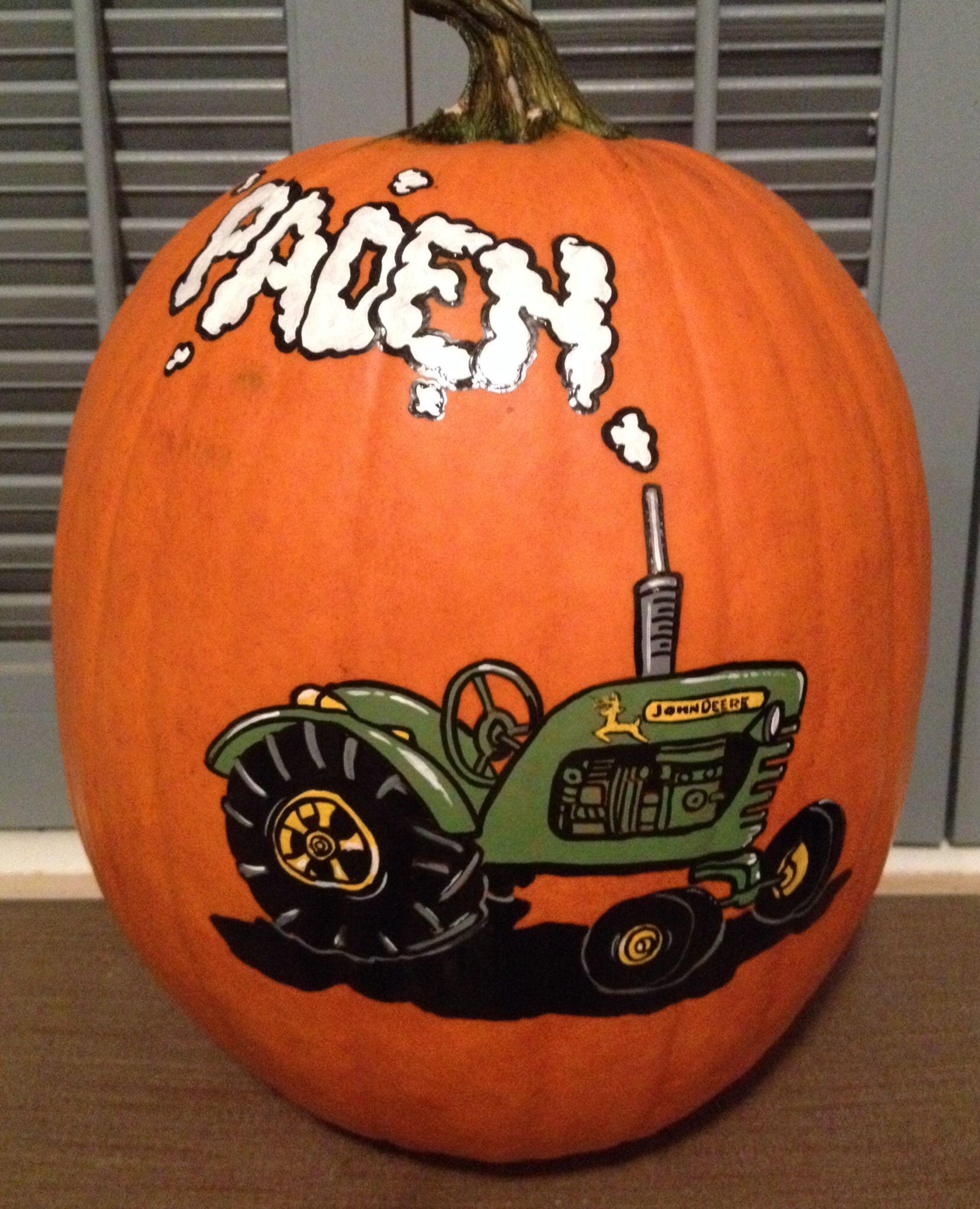 John Deere Tractor Pumpkin
