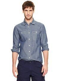 My style:  1969 chambray shirt  Gap