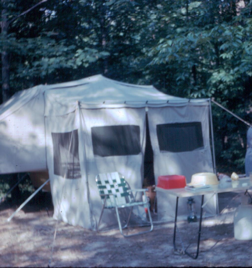 Camper With Outdoor Kitchen: 1960 Apache Eagle Camper With Add A Room. Elegant Camping